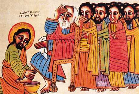 Image result for Jesus washing the disciples feet icon