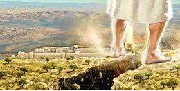 Bildergebnis für mountain of olives in Jerusalem splitting at the return of Jesus under his feet images